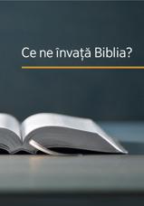 Ce ne învață Biblia?
