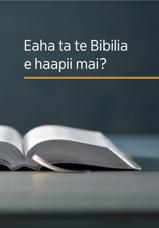 Eaha ta te Bibilia e haapii mai?