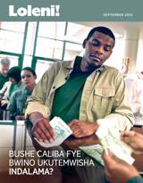 September2015| Bushe Caliba fye Bwino Ukutemwisha Indalama?