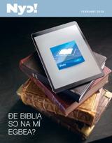 February2015| Ðe Biblia Sɔ Na Mí Egbea?