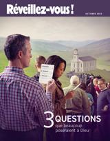 Octobre 2015| 3 questions que beaucoup poseraient à Dieu