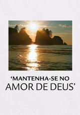 'Mantenha-se no Amor de Deus'