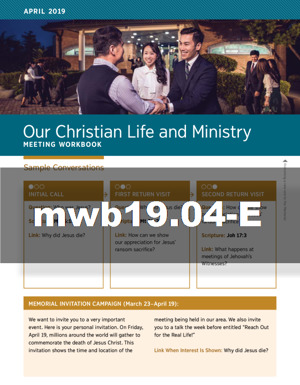 Our Christian Life and Ministry—Meeting Workbook (MWB) | JW ORG