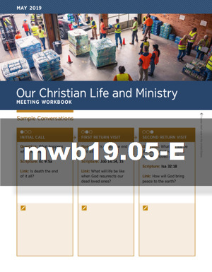 Our Christian Life and Ministry—Meeting Workbook (MWB)   JW ORG