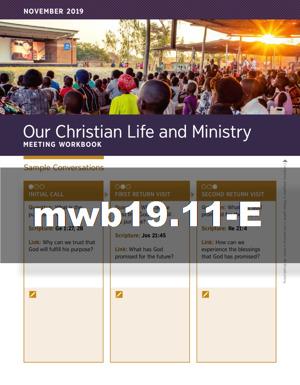 JW Meeting Workbook— November 2019 (MWB) | JW ORG
