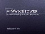 February1, 2003