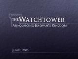 June1, 2003