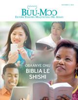 December2015| Obaanyɛ Onu Biblia lɛ Shishi