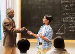 Учительпе унӑн вӗрекенӗсем