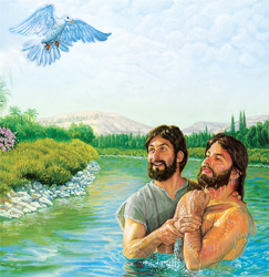 Jesus ana baptism