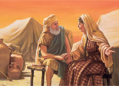 Saratu tana tattaunawa da Ibrahim