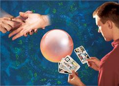 Karti ya zodiake; 2. Moto azali kotalisa lobɔkɔ; 3. Bale ya kristale; 4. Mobali moko azali kotala karti ya maji