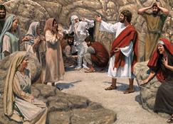 Jesus el olekiis er a Lazarus