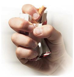 Obi a ɔremoamoa sigaret adaka