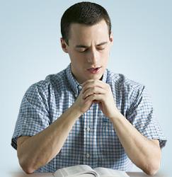 ایک آدمی جو دُعا کر رہا ہے