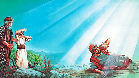 Saul aveuglé par enn la lumiere