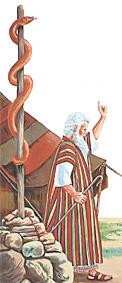 Moïse ek serpent en cuivre