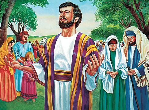 以斯拉和人民正在禱告
