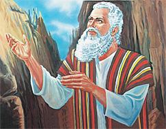 Móses á Sinaifjalli