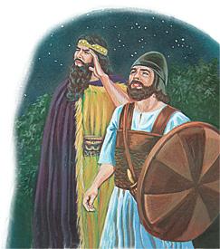 Saul kongur og Abner