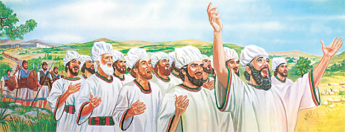 Ísraelsmenn á veg í bardaga