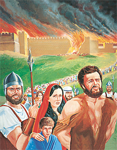 Fangar á veg úr Jerusalem