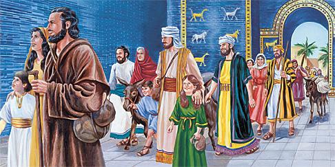 Ísraelsmenn fara úr Bábylon