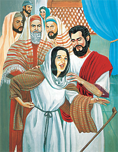 Jesus grøðir eina sjúka kvinnu
