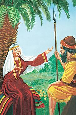 Deborah tana yi wa Barak magana