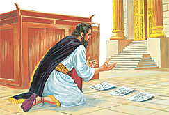 Sarki Hezekiah yana addu'a