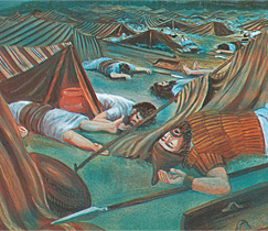 Ang napatay nga Asirianhon nga mga soldado