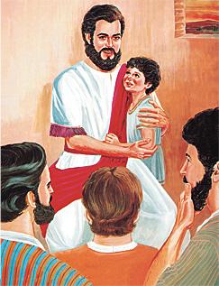 Si Jesus kag ang isa ka diutay nga bata