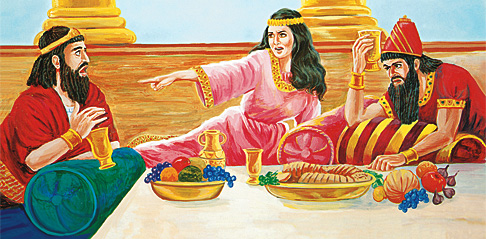 Ester ásakar Haman