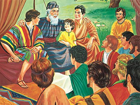 Яків зі своїми синами