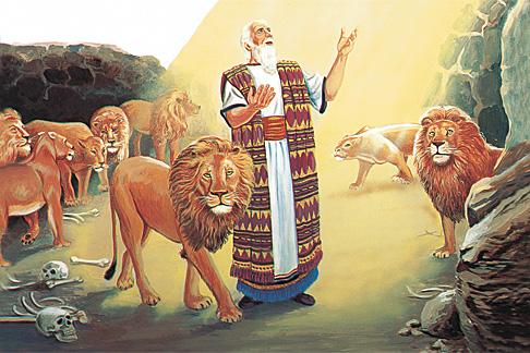 Даниїл в ямі з левами
