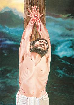 Есүс үхэж байгаа нь