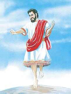 하늘로 돌아가시는 예수