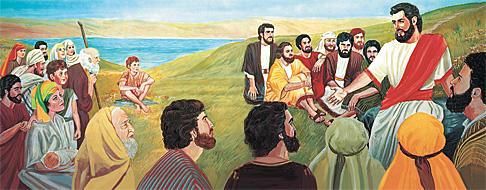 가르치고 계시는 예수