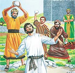 Stefans tiek nomētāts ar akmeņiem