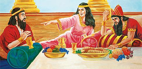 Царицата Естира го обвинува Аман
