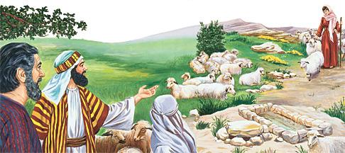 I Jakoba mihaona amin'i Rahely