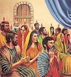 ഒന്നാം നൂറ്റാണ്ടിലെ ശിഷ്യന്മാരുടെമേല് പരിശുദ്ധാത്മാവ് പകരപ്പെടുന്നു