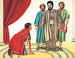 പത്രൊസ് കൊര്ന്നേല്യൊസിനെ കാണുന്നു