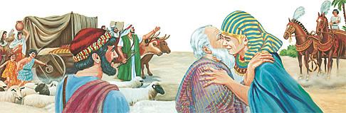 യാക്കോബിന്റെ കുടുംബം ഈജിപ്തിലേക്കു പോകുന്നു
