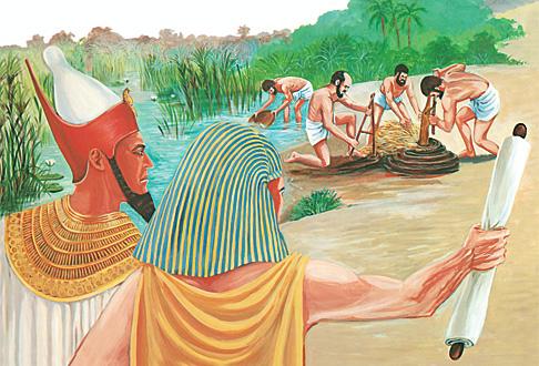 ഈജിപ്തുകാര് ഇസ്രായേല്യരെ ഉപദ്രവിക്കുന്നു