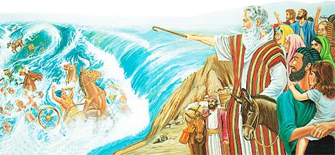 ഈജിപ്തുകാരുടെ സൈന്യം മുങ്ങിമരിക്കുന്നു