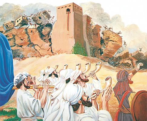 യെരീഹോയുടെ മതിലുകള് ഇടിഞ്ഞു വീഴുന്നു