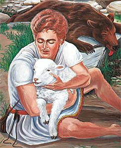 ദാവീദ് ഒരു ആട്ടിന്കുട്ടിയെ രക്ഷിക്കുന്നു