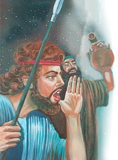 ദാവീദ് ശൗല് രാജാവിനോട് വിളിച്ചുപറയുന്നു
