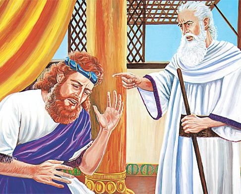 नातान दाऊदलाई सजाय सुनाउँदै